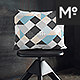 Throw Lumbar Pillow With Chairs Mock-up