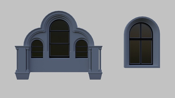 Arched Windows 1 - 3DOcean Item for Sale