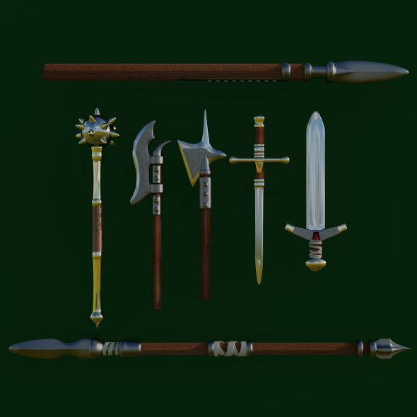 melee weapon - 3DOcean Item for Sale
