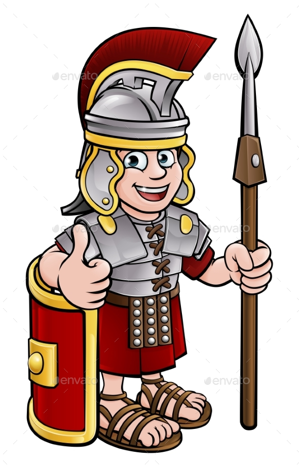 Cartoon Character Roman Soldier - People Characters