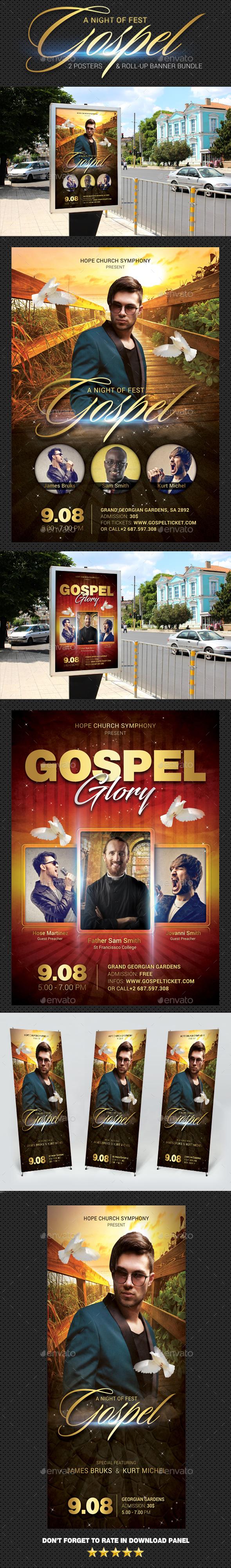 GraphicRiver Gospel Poster Banner Bundle 20940680