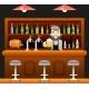 Barkeeper Pub Bar Restaurant Cafe Symbol Alcohol