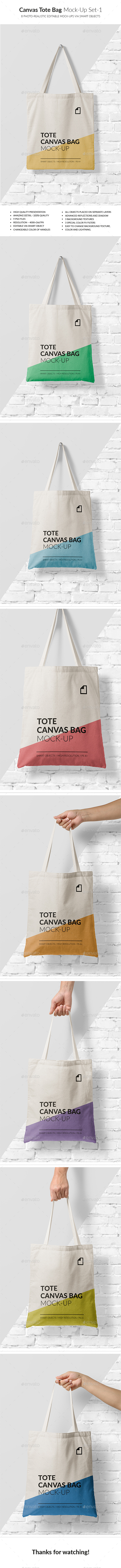 GraphicRiver Canvas Tote Bag Mock-Up Vol.1 20940760