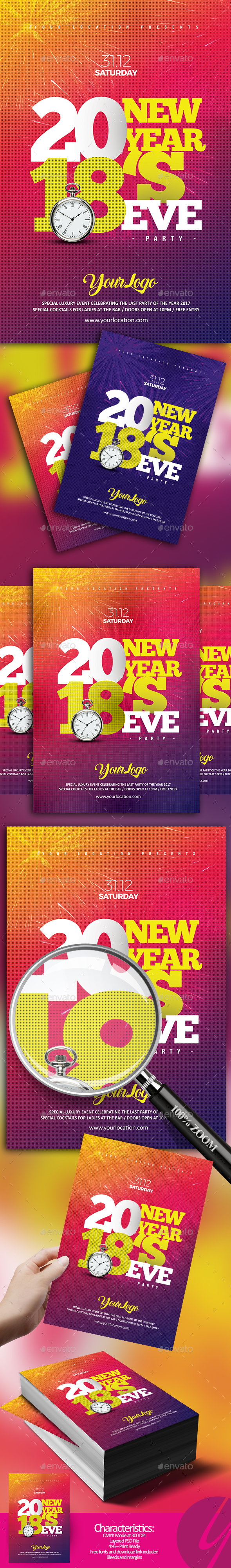 2018 NYE Flyer - Clubs & Parties Events