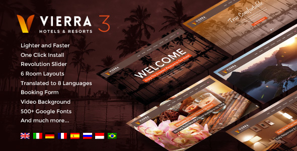 Hotel Wordpress Theme | Vierra - Travel Retail