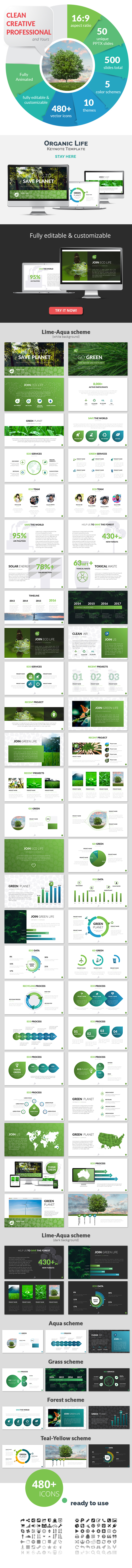 Organic Life Keynote Presentation Template - Nature Keynote Templates