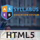 Syllabus - Education Responsive HTML5 Template - ThemeForest Item for Sale