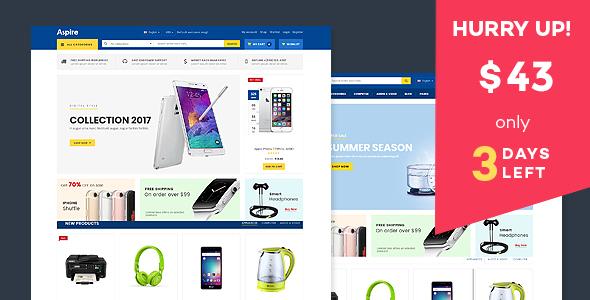 Aspire - Electronic Store WooCommerce WordPress Theme - WooCommerce eCommerce