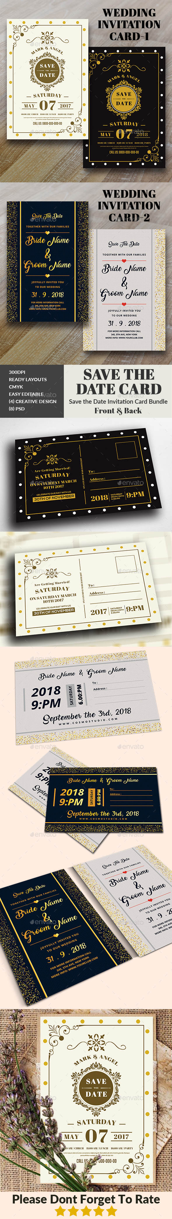 GraphicRiver Wedding Invitation Bundle 20941165