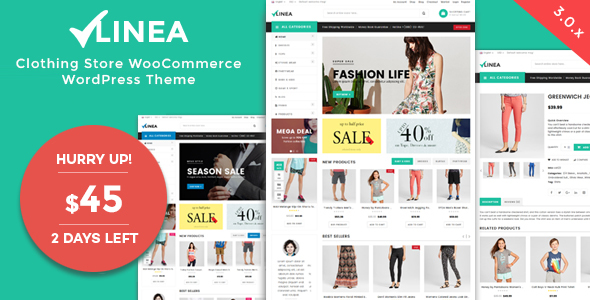 Linea - Clothing Store WooCommerce WordPress Theme - WooCommerce eCommerce