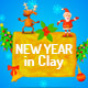 New Year in Clay - VideoHive Item for Sale
