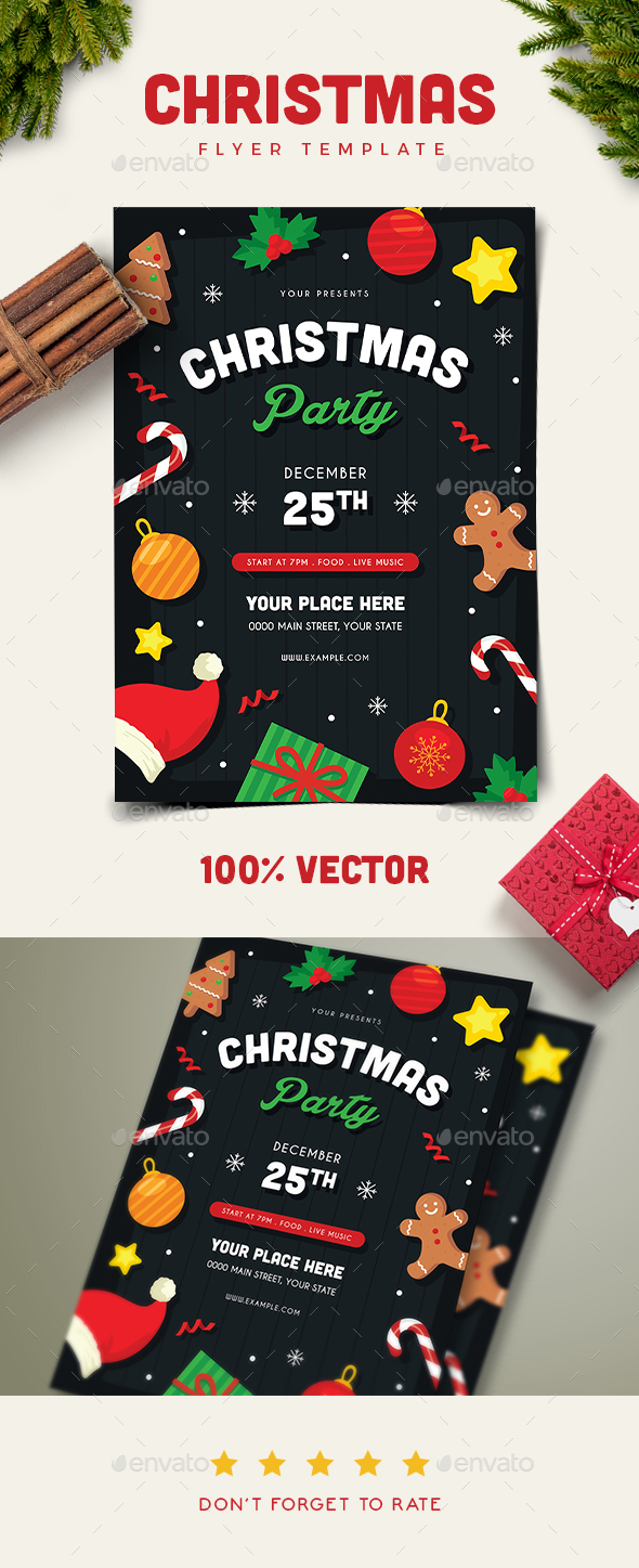 GraphicRiver Christmas Party Flyer 20941305