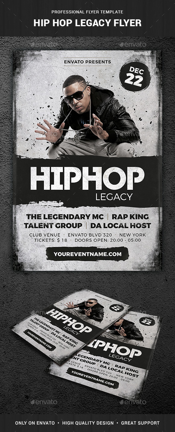 GraphicRiver Hip Hop Legacy Flyer Template 20941315