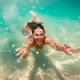 Cute Girl Swimming Under Sea - PhotoDune Item for Sale