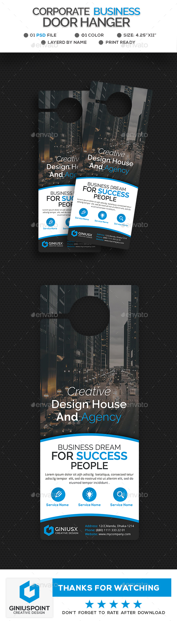 GraphicRiver Corporate Business Door Hanger 20941371