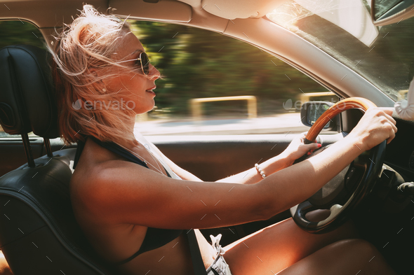 Woman Driver - Stock Photo - Images