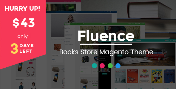 Fluence - Books Store Responsive Magento Theme - Shopping Magento
