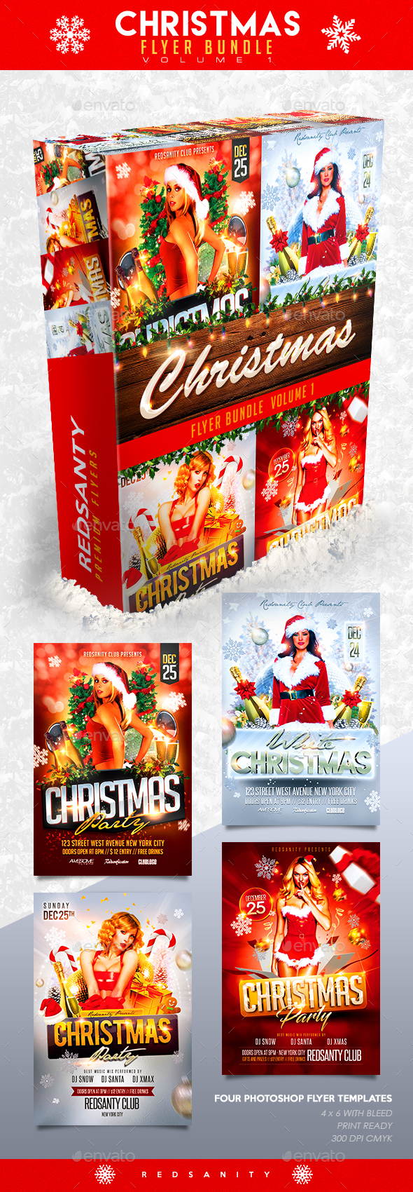 GraphicRiver Christmas Flyer Bundle Vol.1 20941395