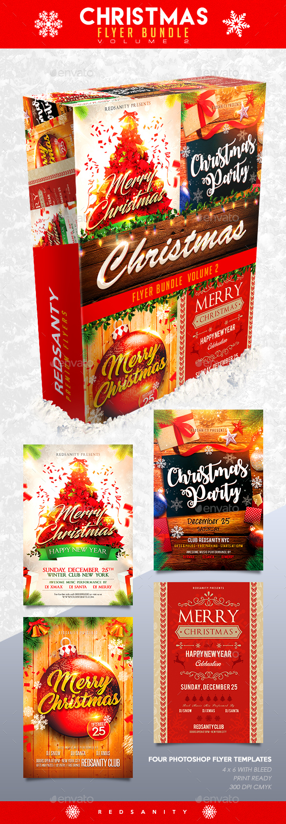 GraphicRiver Christmas Flyer Bundle Vol.2 20941420