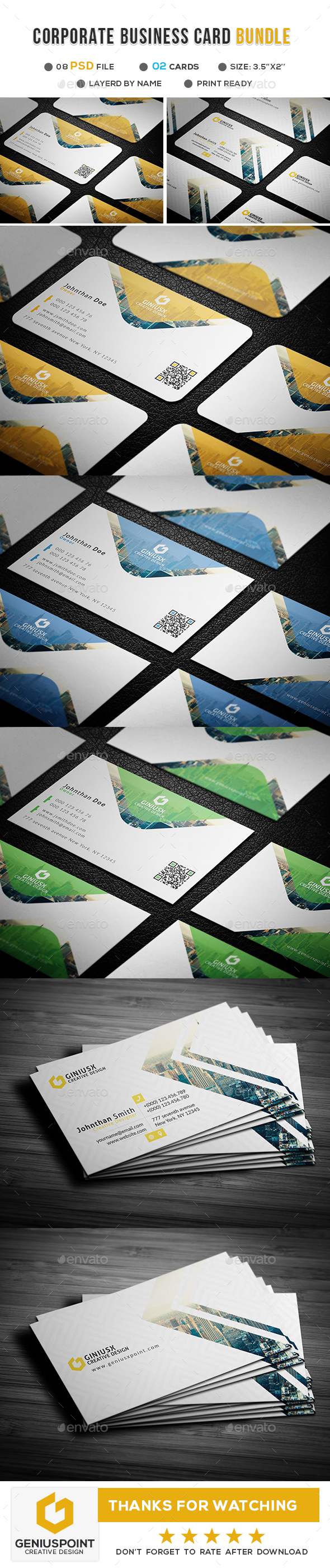 GraphicRiver Corporate Business Card Bundle 20941452