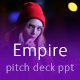 Pitch Deck Empire Powerpoint Template