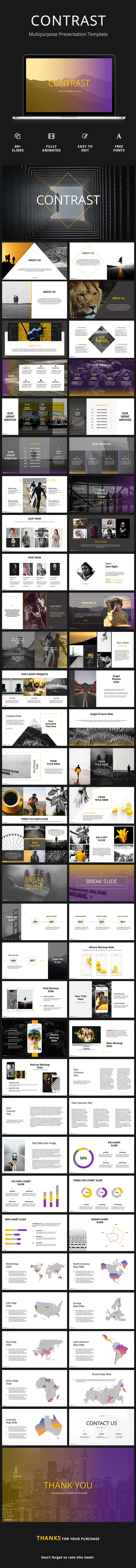 GraphicRiver Contrast Creative Powerpoint Template 20941561