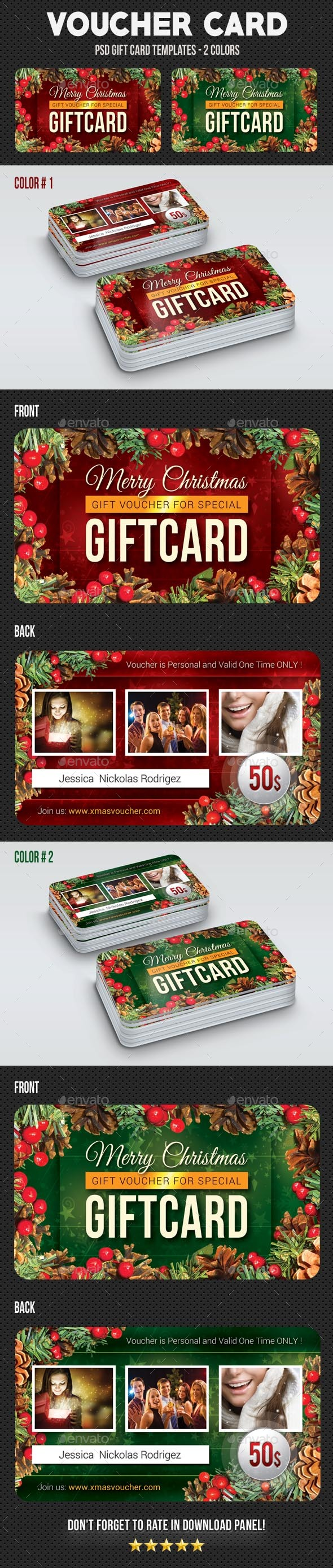 Christmas Voucher Card 2 - Cards & Invites Print Templates