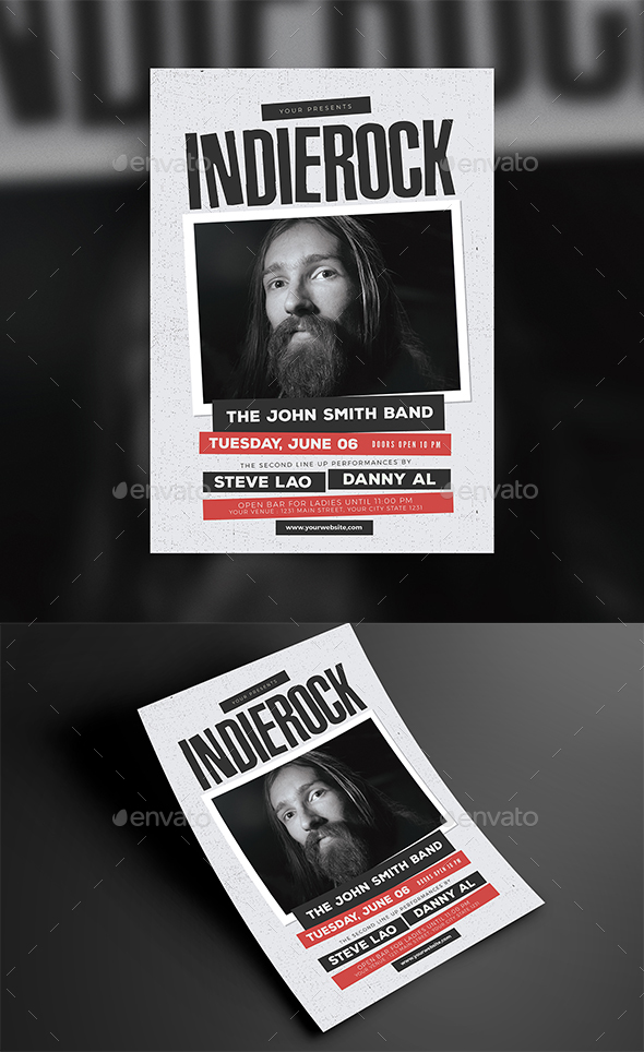GraphicRiver Indie Rock Event Flyer 20941694