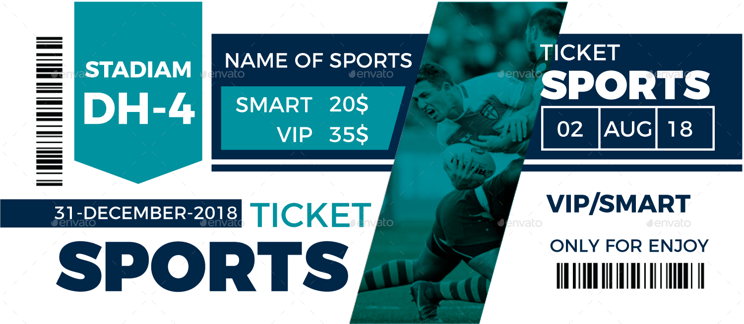 Sports Event Ticket Template by ExpoMedia | GraphicRiver
