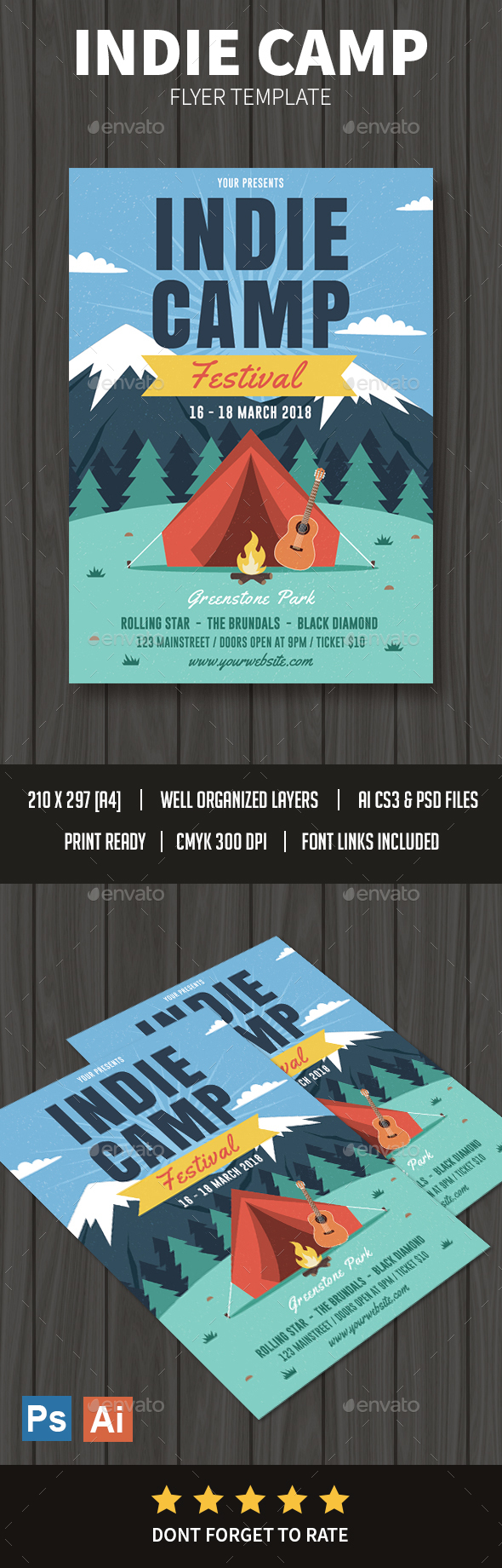 Indie Camp Flyer - Events Flyers