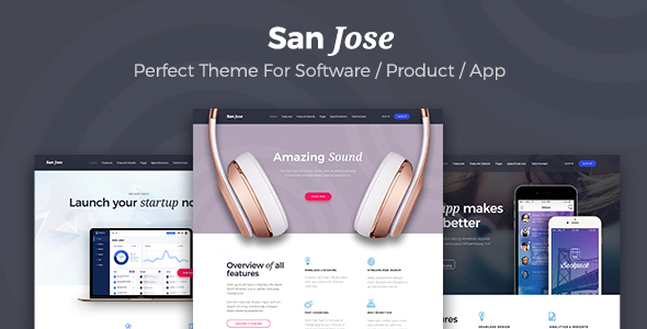Download San Jose  - Creative Multipurpose Software / SaaS Product WordPress Theme            nulled nulled version