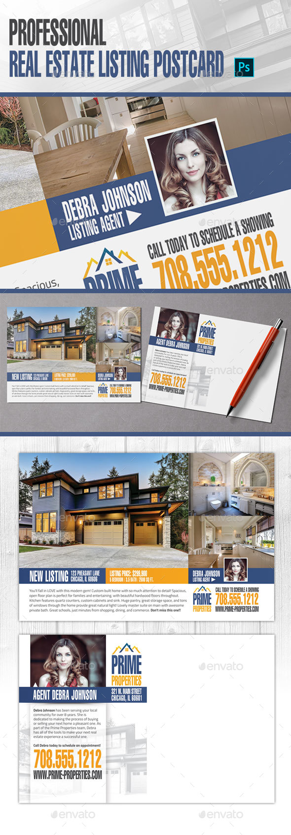 GraphicRiver Real Estate Listing Postcard 20941816