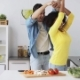 Happy Couple Cooking Food and Dancing at Home  - VideoHive Item for Sale