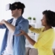Happy Couple with Virtual Reality Headset at Home 47 - VideoHive Item for Sale