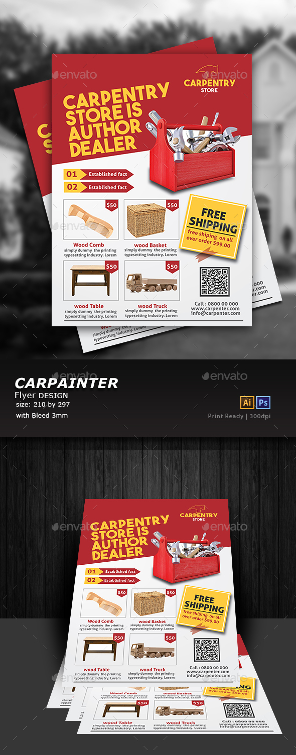 Carpenter Flyer - Flyers Print Templates
