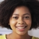 Happy African American Young Woman Face at Home  - VideoHive Item for Sale