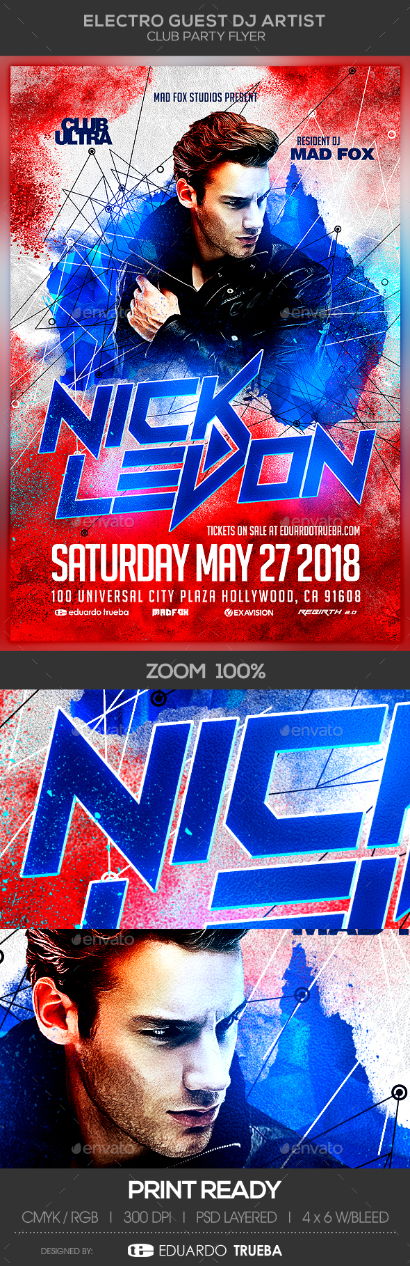 GraphicRiver Electro Guest Dj Artist Club Party Flyer 20941927