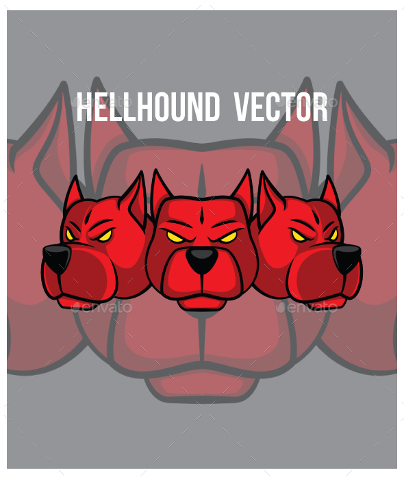 Hellhound Head Vector - Monsters Characters