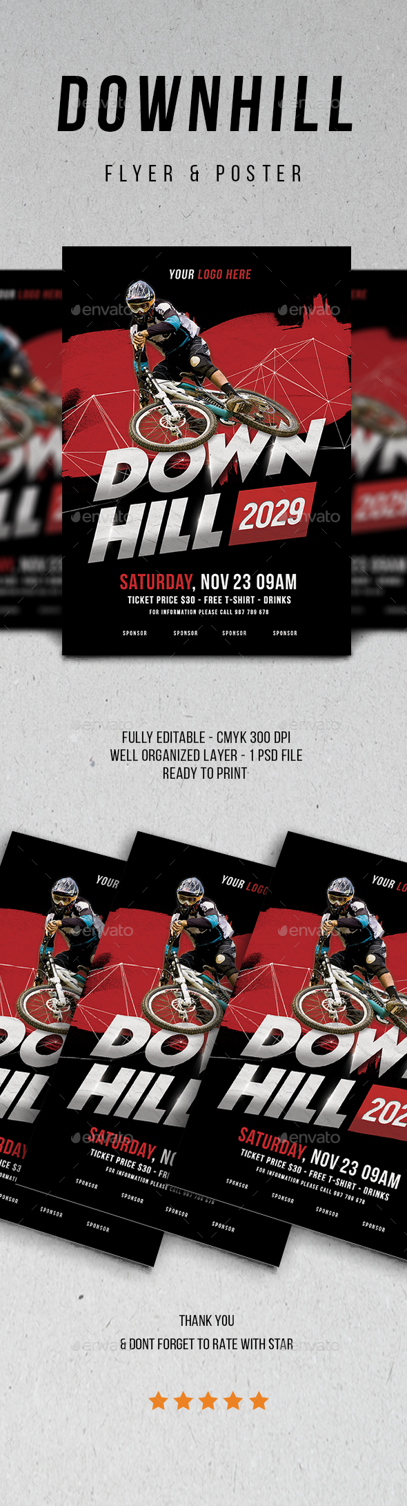 Downhill Flyer - Sports Events