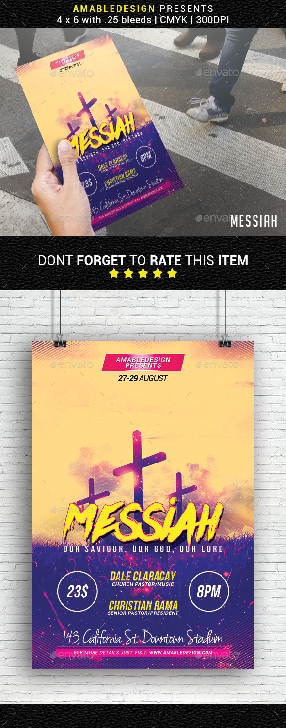 GraphicRiver Messiah Church Flyer 20942193