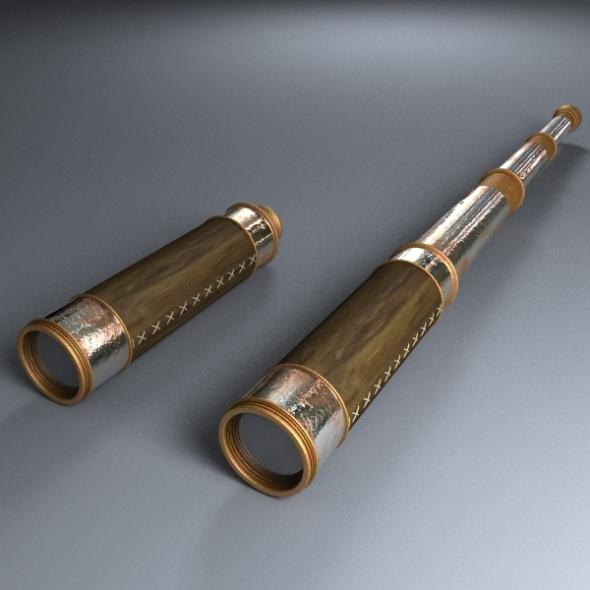 Old Telescope - 3DOcean Item for Sale