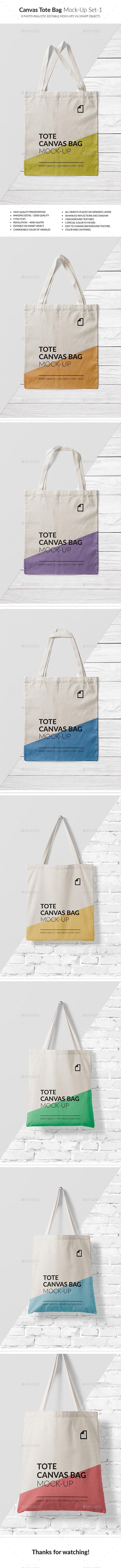 GraphicRiver Canvas Tote Bag Mock-Up Vol.2 20942305