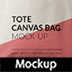 Canvas Tote Bag Mock-Up Vol.2