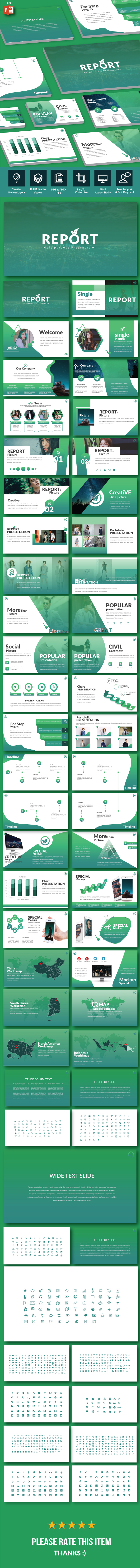 GraphicRiver Report Multipurpose PowerPoint Template 20942340
