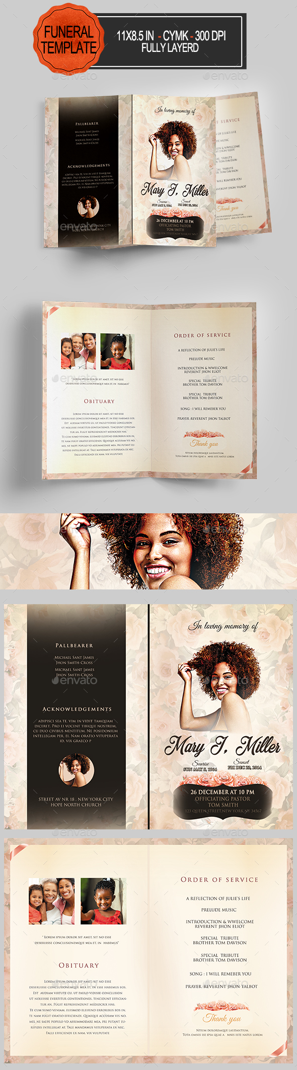 GraphicRiver Funeral Program Template 20942351