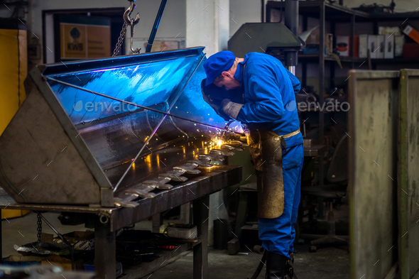 Worker in metal industry - Stock Photo - Images