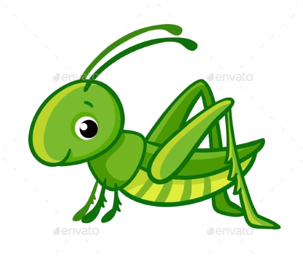 Green Grasshopper - Animals Characters