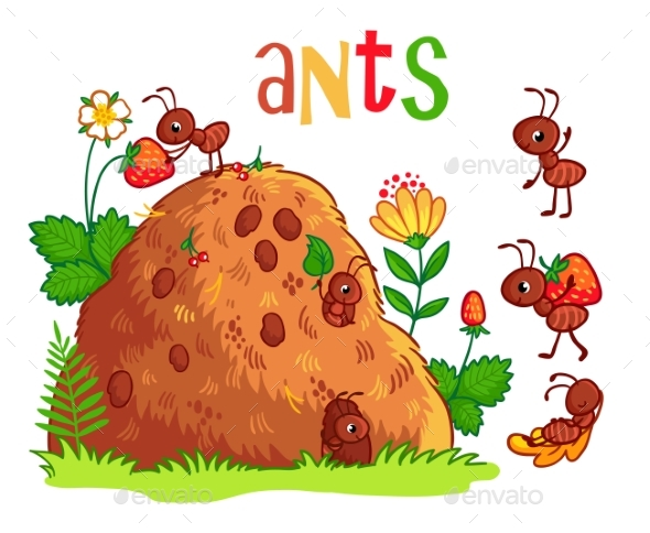 Anthill and Ants - Animals Characters