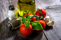Olive oil, tomato and herbs