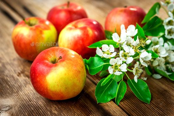 Raw organic apples - Stock Photo - Images